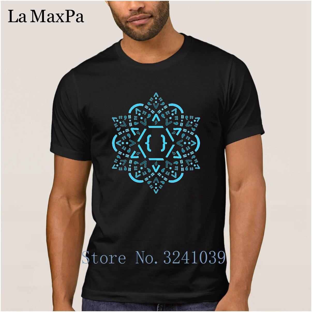 Breathable T-Shirt For Men 100% Cotton Short Sleeve Sunlight Men T Shirt Code Mandala React Framework Tshirt Man Clothing
