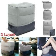 Новое поступление надувная портативная дорожная подставка для ног Подушка для самолета поезда детская удобная кровать коврик для ног Faroot горячая распродажа