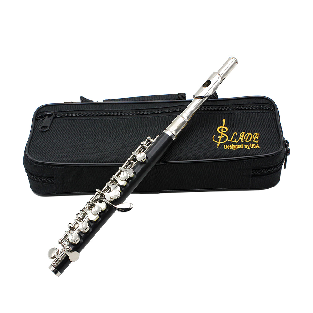 HOT-SLADE C Key Tone Half-Size Flute Piccolo Cupronickel Silver Plated With Cleaning Stick Padded Case ScrewdriverHOT-SLADE C Key Tone Half-Size Flute Piccolo Cupronickel Silver Plated With Cleaning Stick Padded Case Screwdriver