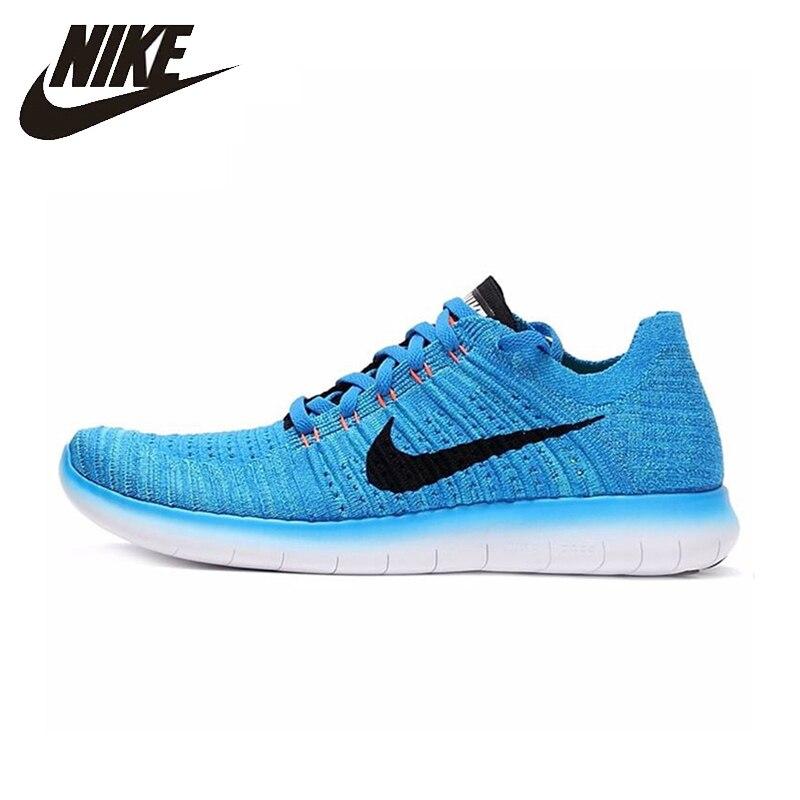 Nike nouveauté Original gratuit RN FLYKNIT hommes respirant chaussures de course confortable en plein air amorti baskets #831069-401