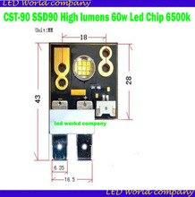 CST 90 SSD90 สูง lumens 60w Led ชิป 6500k 60 องศา Led โมดูลสำหรับหัว