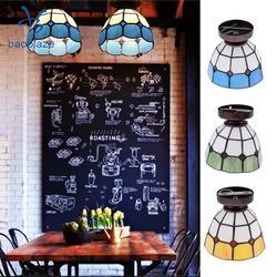 E27 szklany styl śródziemnomorski powierzchnia ciała podtynkowa lampa sufitowa klosz żarówka pokrywa 110-220V