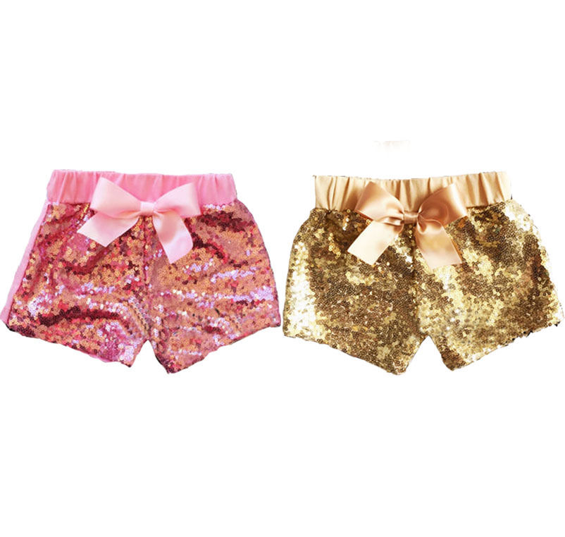 Pudcoco Girl   Short   Pants Toddler Baby Girls Clothes Bowknot Sparkle Party   Shorts   Sequin Pants Summer 1-3Y