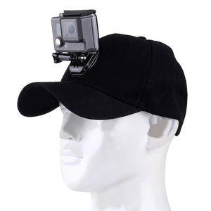 Image 2 - For Go Pro Accessories Outdoor Sun Hat Topi Baseball Cap with Holder Mount for GoPro HERO5 HERO4 Session HERO 5 4 3 2 1 black