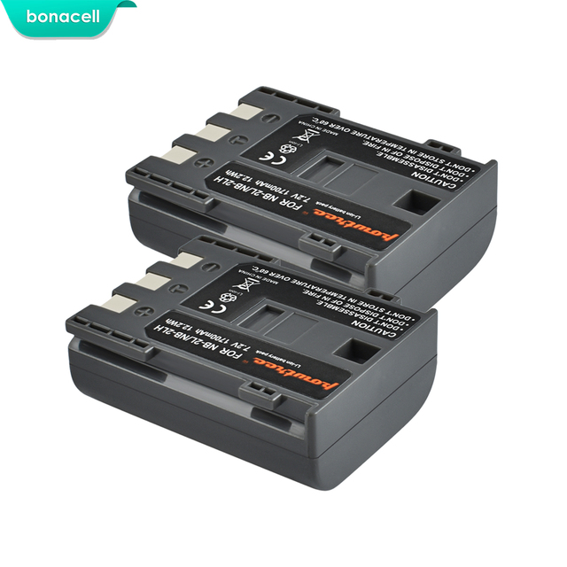 Bonacell 1700mAh NB 2L NB2L NB 2LH NB 2LH NB2LH Digital Camera Battery For Canon Rebel XT XTi 350D 400D G9 G7 S80 S70S30 L50