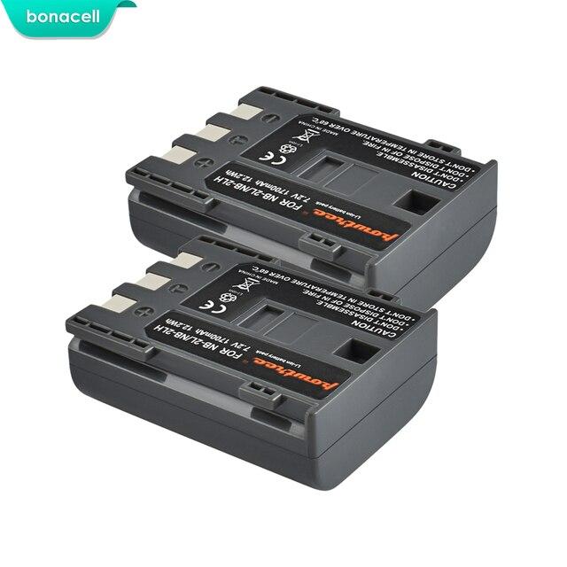 Bonacell batterie dappareil photo numérique Canon rebelle, 1700 mAh, NB 2L NB2L,
