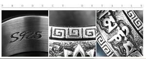 Image 5 - Fatti a mano 925 In Filatura Ad Anello In Argento Tibetano Tibetano OM Mantra Girando Le Parole Anello Anello Buddista Tibetano Buona Fortuna Anello