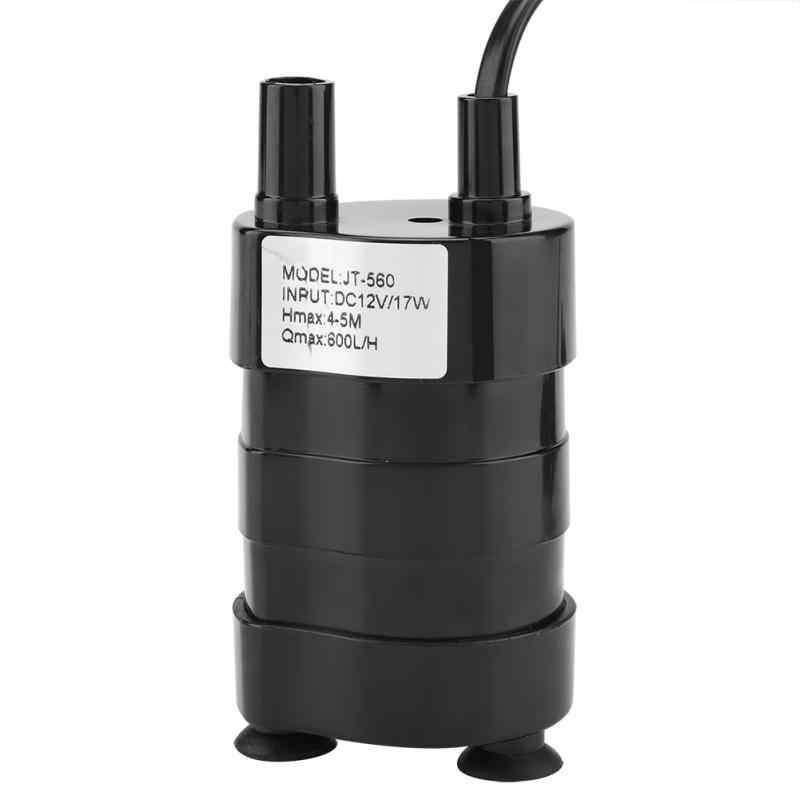 DC 12 V Elektrische Mini Waterpomp Micro Brushless Dompelpomp voor Water Olie Benzine 600L/H