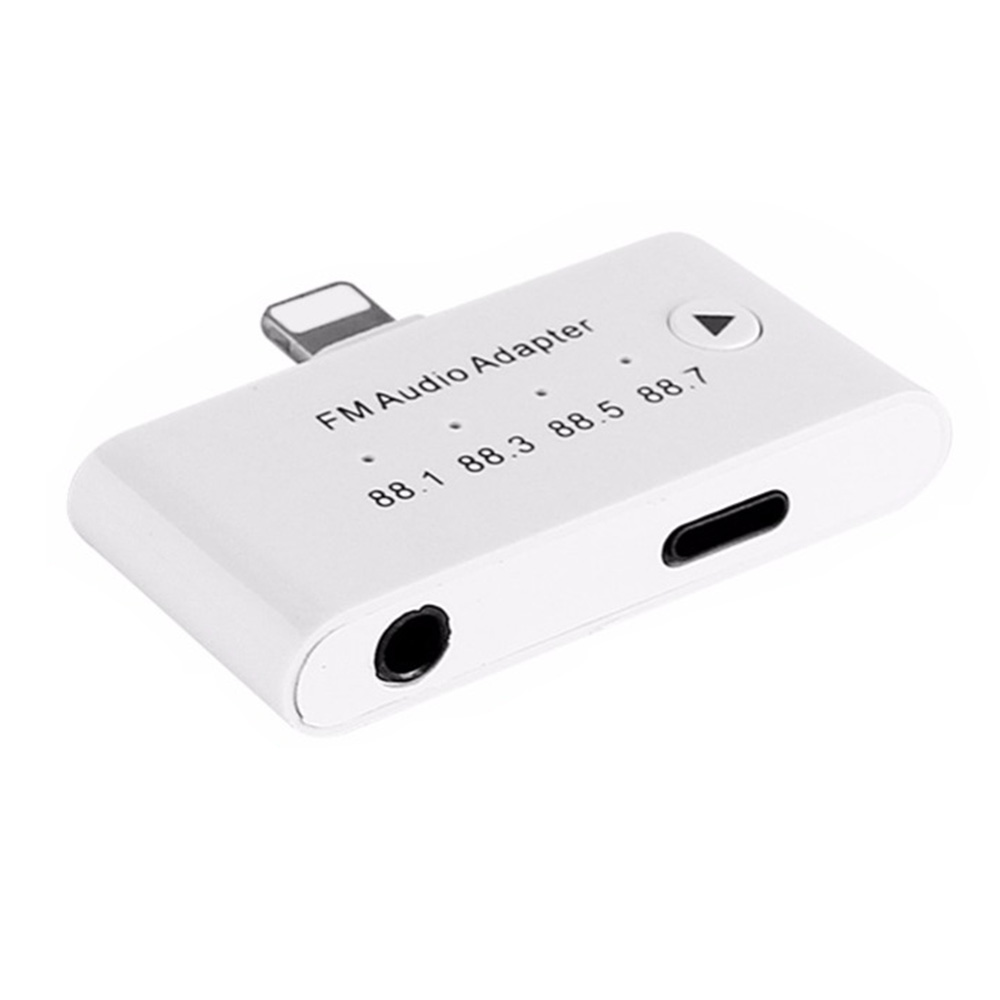 Hfes 3 In1 Für Apple Interface Zu 3,5mm Famle Aux Fm Audio Transmitter Kit Adapter Für Iphone 5 6 6 S 7 7 Plus 8 8 S Für Ipad Lange Lebensdauer Funkadapter