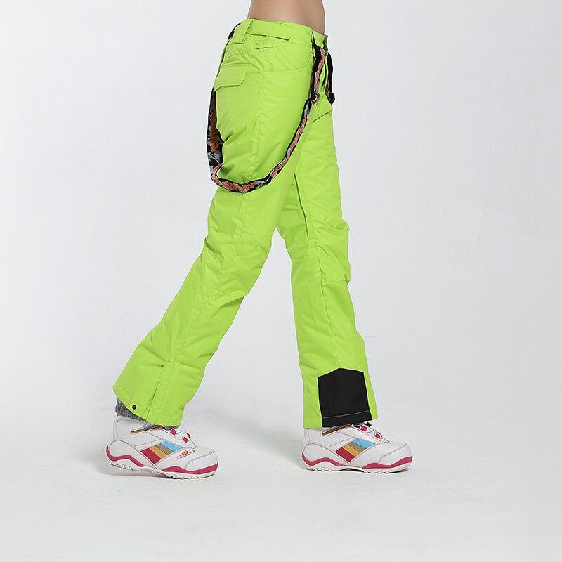 Pantalon de Ski de marque Gsou Snow femme pantalon de Snowboard imperméable pantalon de Ski respirant hiver Sport de plein air pantalon de Ski de montagne - 5