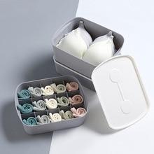 Home Storage Box Bra Underwear Organizer Wardrobe Drawer Closet Organizer For Scarfs Socks Desktop Wardrobe Plastic Box