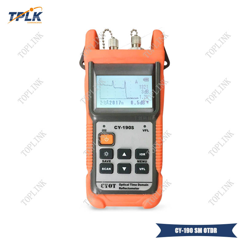 CY 190S Handheld OTDR Optical Time Domain Reflectometer SM 60KM 1310nm 1mW VFL Fiber find fault