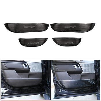 Car Stainless Steel Door Storage Cover Protect Kick Board Trim fit For Range Rover Discovery 5