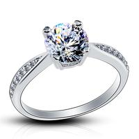DOTSHE Rings For Women Silver Color AAA Zircon Wedding Crystals Engagement Anel Bijoux Top Quality Rings Female