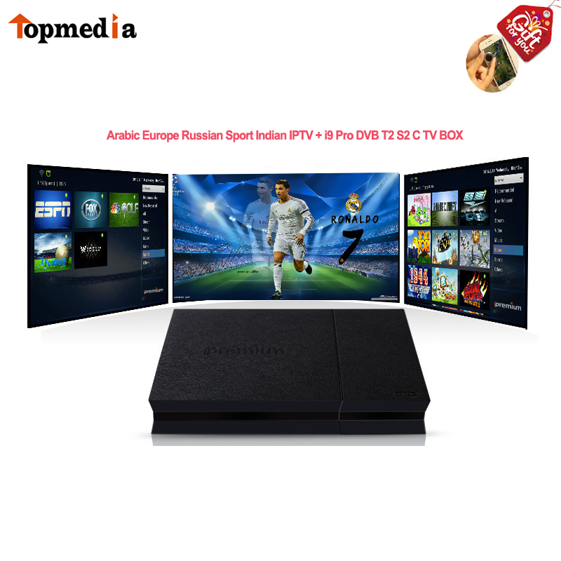 Arabe Iptv Europe Italia français 1 an abonnement pour Ipremium AVOV I9 Pro 4 K DVB T2 S2 C Android Box mieux que Htv Box 5