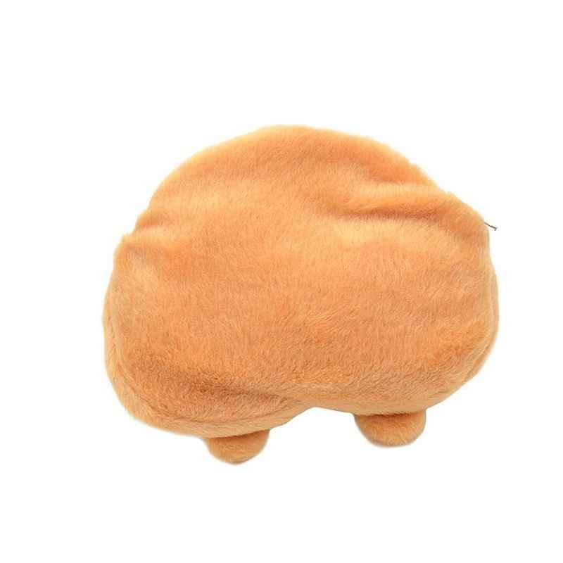 Cute 3D Corgi Butt Shape monedero Shiba Ass Bum cartera cremallera cambio funda 1 piezas