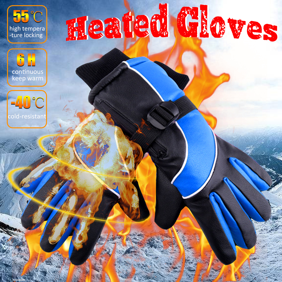 2600mAh 7.4V Electric Rechargeable Battery Heated Motorcycle Gloves Waterproof Winter Warm Hand Safety Gloves2600mAh 7.4V Electric Rechargeable Battery Heated Motorcycle Gloves Waterproof Winter Warm Hand Safety Gloves