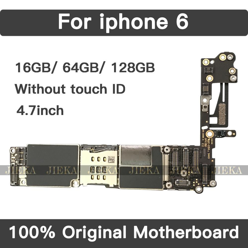For IPhone 6 Tested Good Working Original Factory Unlocked Motherboard For IPhone 6 4.7inch Mainboard Without / No Touch ID