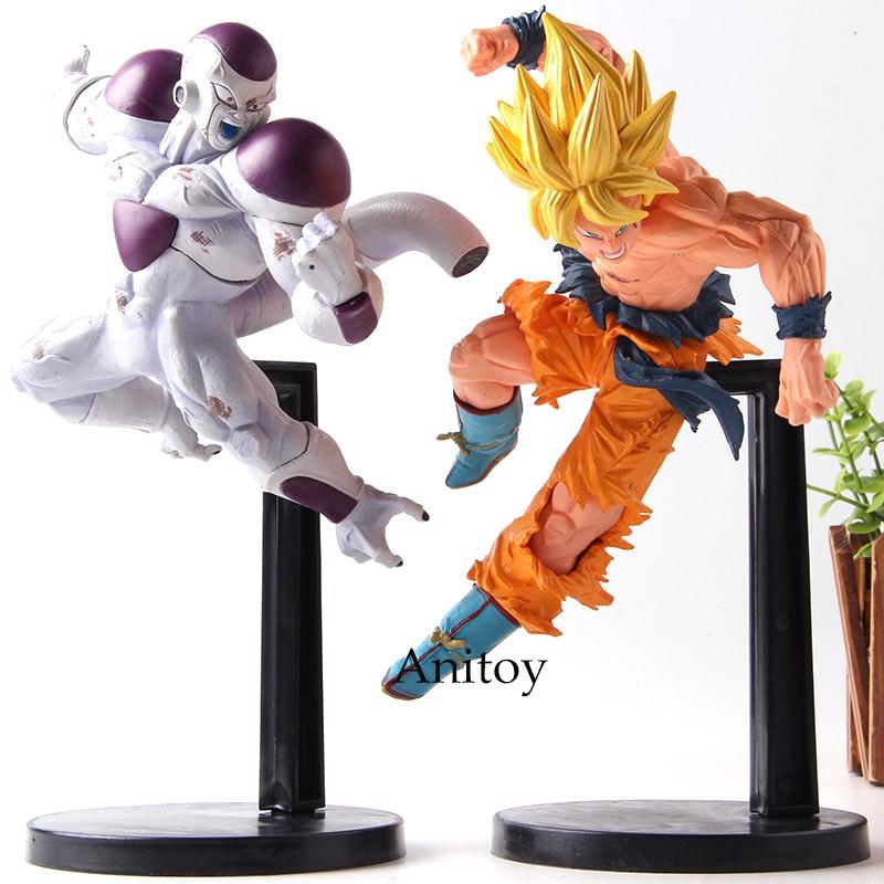 Dragon Ball Match Makers Full Power Freeza Freezer VS Super Saiyan Son Gokou Son Goku DBZ Action Figures Collection Model Toys