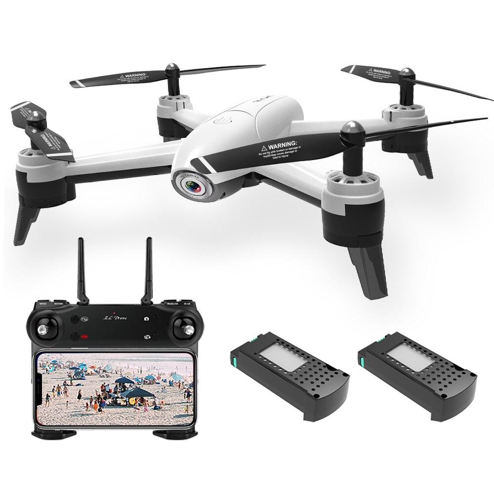 SG106 Wifi FPV przepływ optyczny Drone z podwójną kamerą 1080 P szeroki kąt wysokości nad poziomem morza fotografia gestów Quadcopter z 2 baterii w Samoloty RC od Zabawki i hobby na  Grupa 1