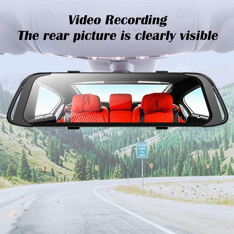 1080P HD 7 Inch Touch Screen Driving Recorder 170 Wide Angle Cyclic Video Screen Recording Reversing Image