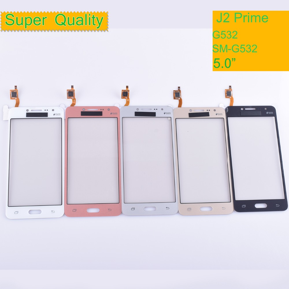 10Pcs/lot G532 TouchScreen For Samsung Galaxy J2 Prime G532 SM-G532 Touch Screen Digitizer Panel Sensor Front Glass Outer Lens
