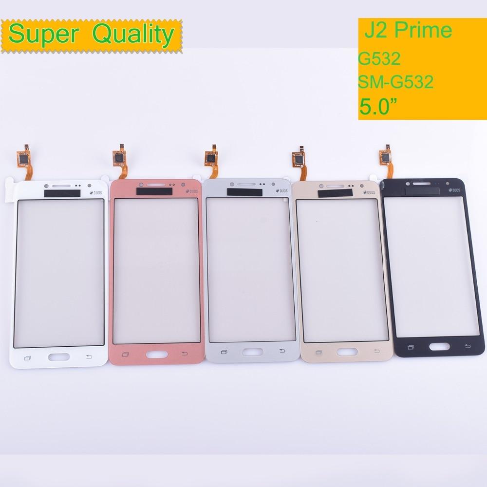 10 шт./лот G532 сенсорного экрана для Samsung Galaxy J2 Prime G532 SM-G532 сенсорный экран с цифровым преобразователем для передняя внешняя линза стекла