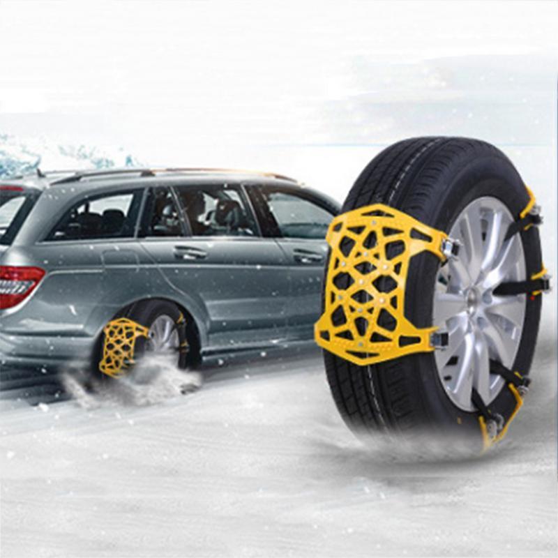 Nouveau 6 pièces voiture anti-dérapant chaîne épaississement élargi chaînes de pneus neige Chai avec gants clé fou Shopping jour en dessous du prix de revient - 3