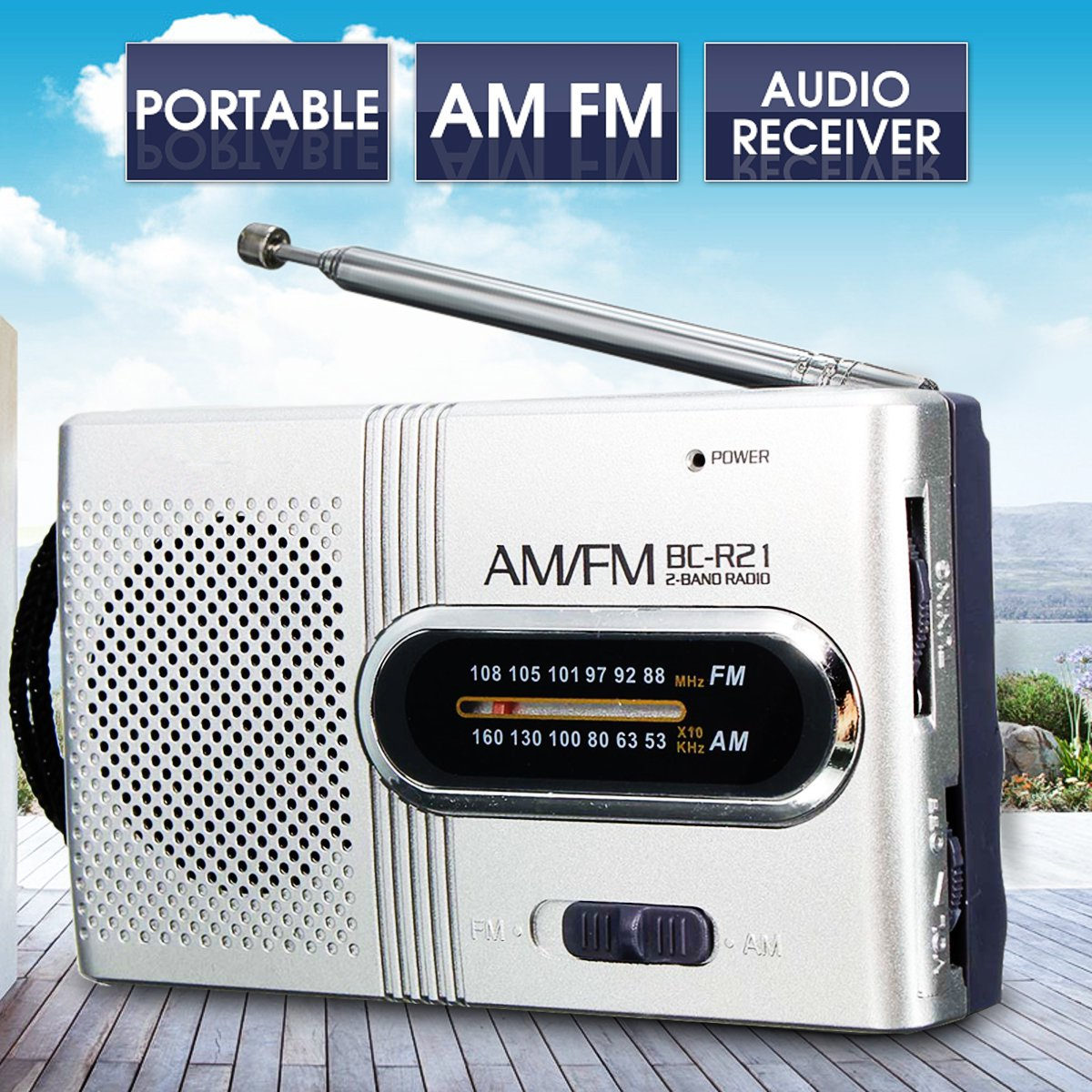 Silber Mini Tragbare Am/fm Teleskop Antenne Radio Welt Empfänger Kleine Mp3 Lautsprecher 3,5mm Mini Slim Stereo Radios Unterhaltungselektronik