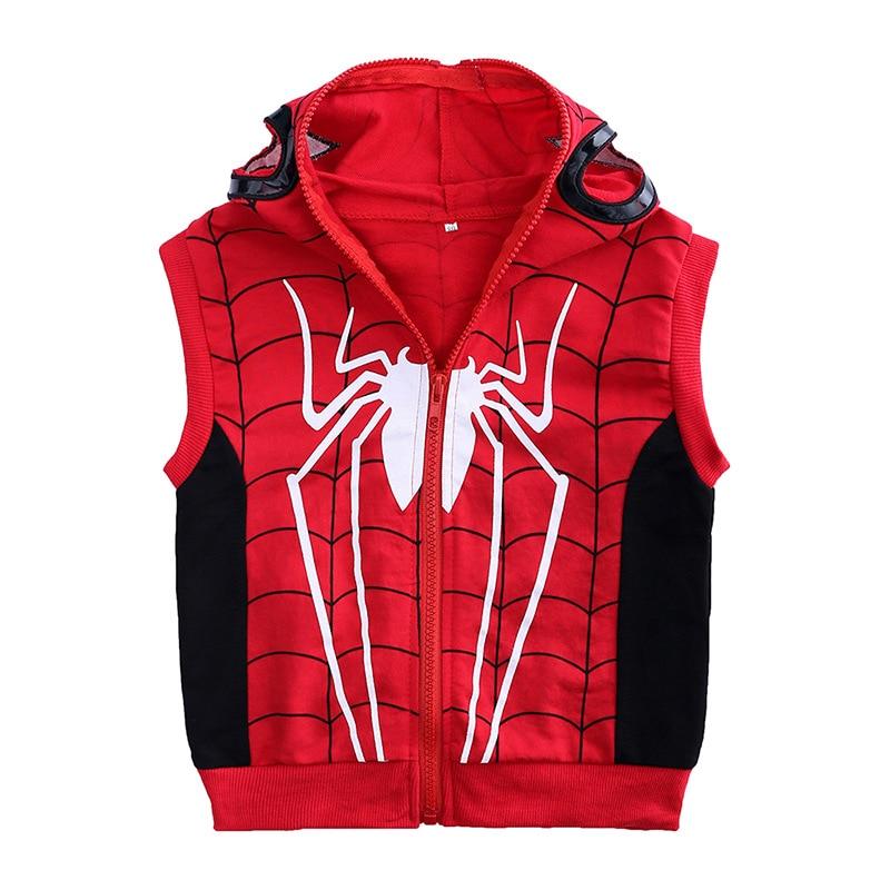 New autumn superman tracksuit children's clothing set Spiderman Costume children clothes Cotton Sport Suit For Baby Boys1-4Y