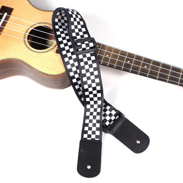 Adjustable Plaid Ukulele Strap