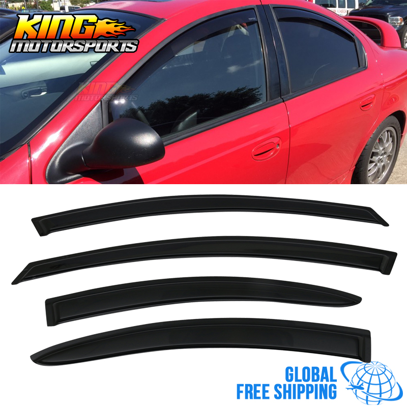 Fits 00 05 Dodge Neon Acrylic Window Visors 4Pc Set Global Free Shipping|Awnings & Shelters| |  - title=