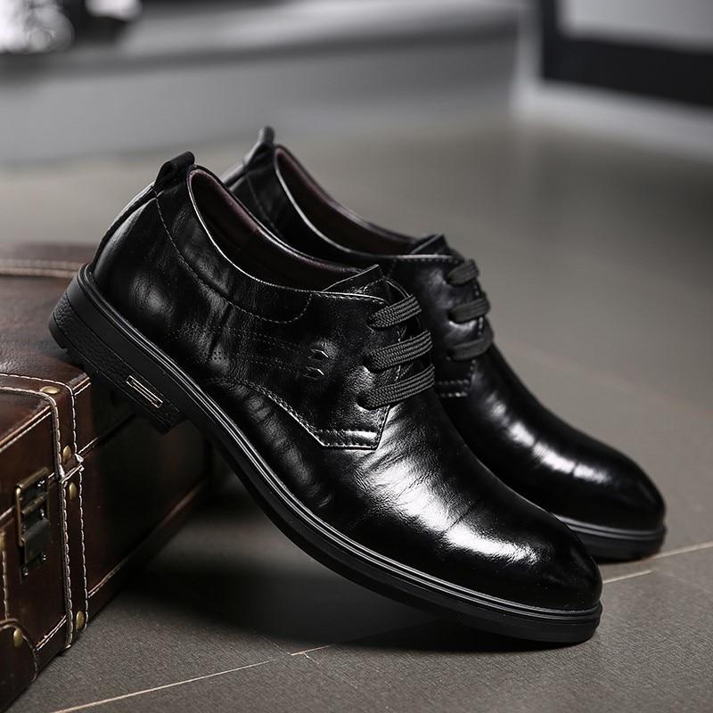 Noir Chaussures En Véritable Pour Oxford Cuir Qzhsmy De Mariage marron Noir Brun Hommes Robe HwxntFvqa