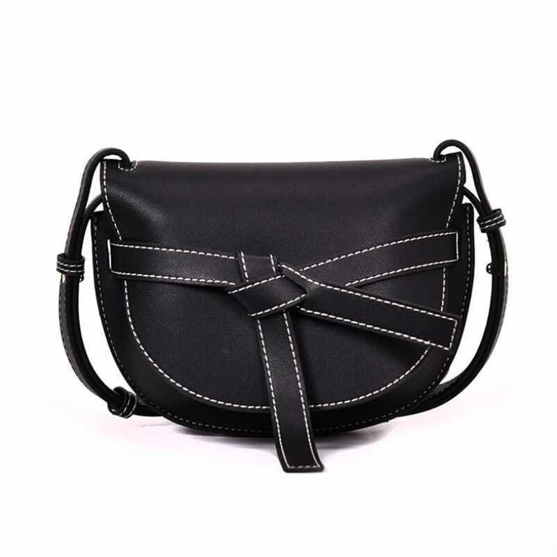 Fashion Women HandBag PU Leather Shoulder Saddle Bags For Girls Luxury Handbags  Women Bags Designer Crossbody 797e774f3d71b