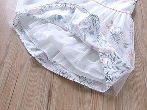 Image 5 - Doğum günü elbise kızlar parti elbise bebek frocks çiçek yaz okulu pamuk çocuk giyim kız giyim çocuk kıyafeti