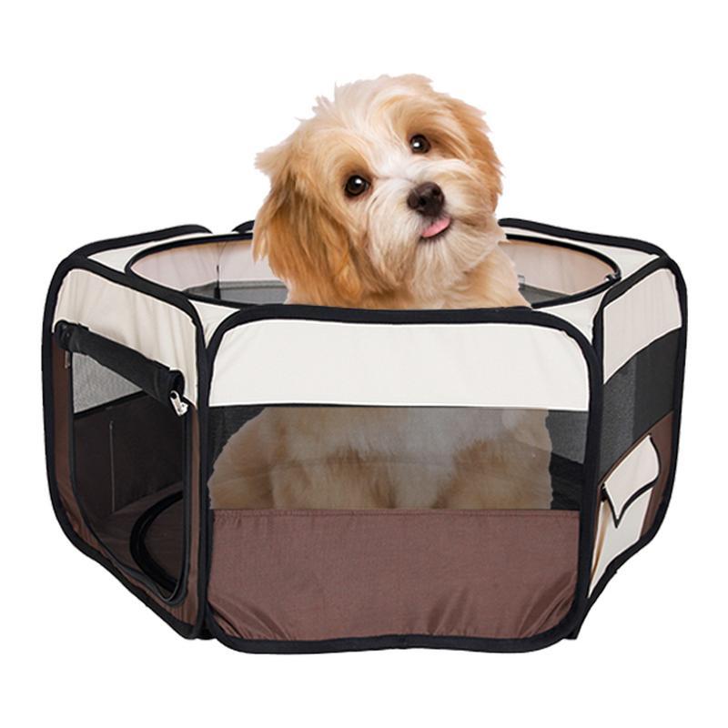Portable pliant Pet tente chien maison Cage chien chat tente parc chiot chenil opération facile maison à Six côtés