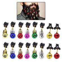 16 шт., 12 лампочек, светильник, колокольчики, 4 колокольчика, рождественские усы, украшение, разные цвета, унисекс, одежда, забавные детские подарки для мальчиков, вечерние подарки