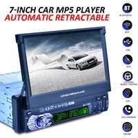 1 DIN 7 HD Авто Выдвижной экран bluetooth автомобильный Радио Стерео мультимедиа плеер gps навигация дистанционное управление + камера заднего вида
