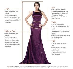 Image 5 - Akşam elbise ile büyük tren vestido longo kırmızı uzun abiye kapalı omuz 2019 robe de soiree yüksek yarık örgün kıyafeti