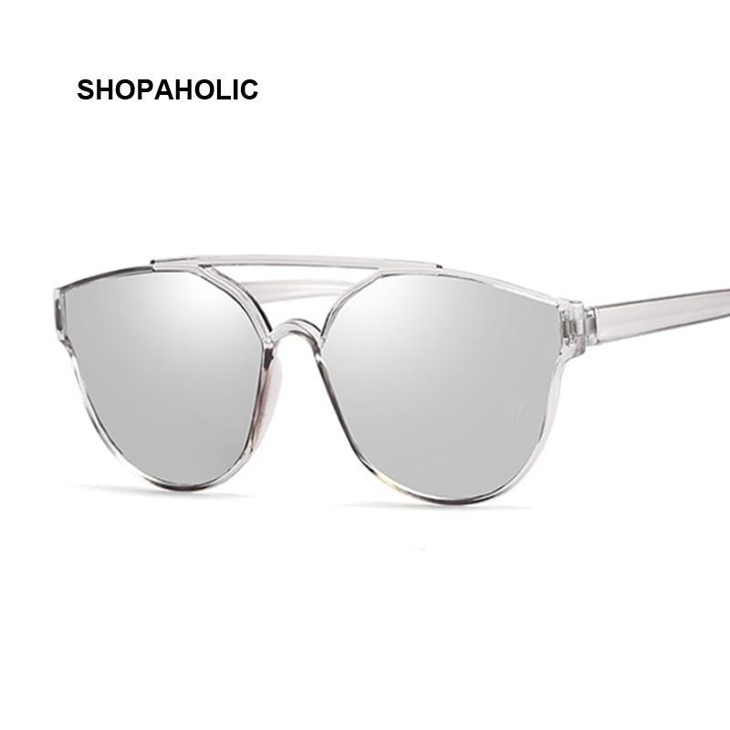 Nouveau Vintage lunettes de soleil yeux de chat argent femmes marque de mode Designer miroir Cateye lunettes de soleil pour femmes nuances UV400