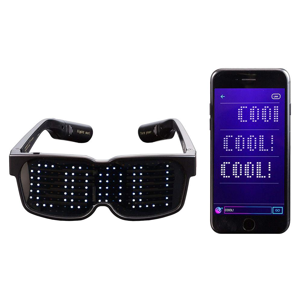 CHEMION Bluetooth LED Glasses Special Atmosphere Sunglasses for Nightclub Party Birthday Decoration LED Glasses-in Glow Party Supplies from Home & Garden    1