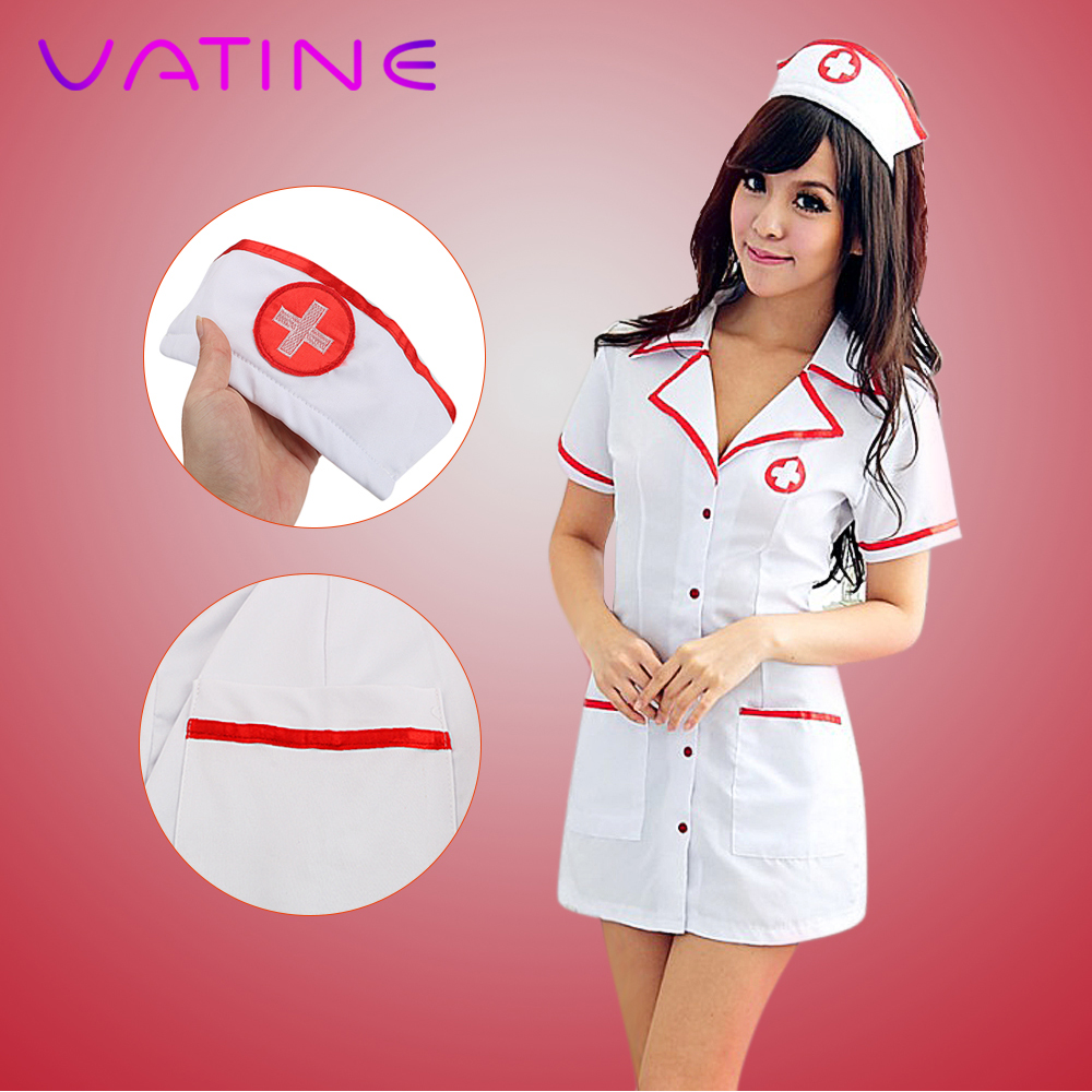 VATINE 3 Piece/Set Nurse Costumes Cosplay Costumes Erotic Lingerie Cosplay Sexy Nurse Uniforms Exotic Costumes