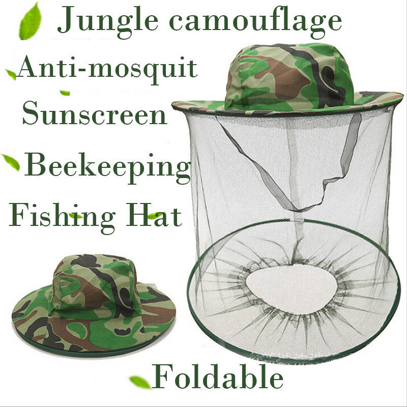 Apparel Accessories Men's Hats Beekeeping Hat Jungle Anti-mosquit Bee Keep Equipment Fishing Sunscreen Mesh Cap Attractive And Durable