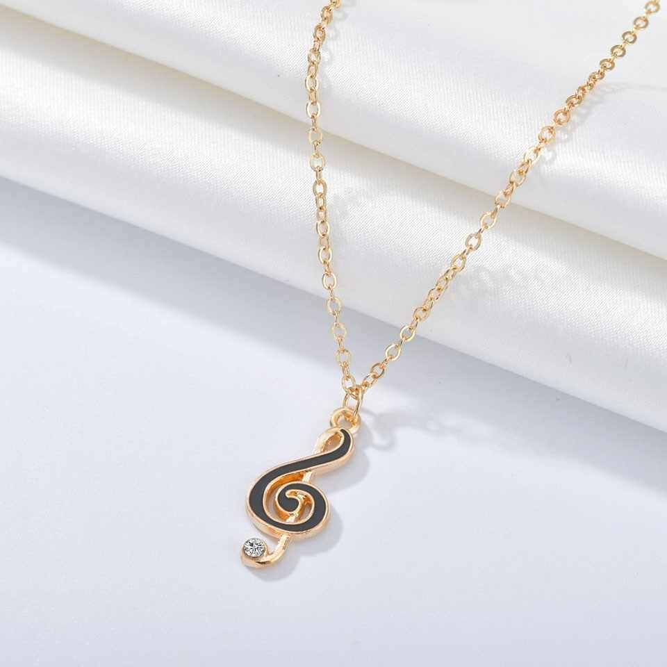 New Women Trendy Pendants And Necklace Music Symbol Pendant Necklace Simple Style Handmade Wedding Jewelry Necklace&Pendants