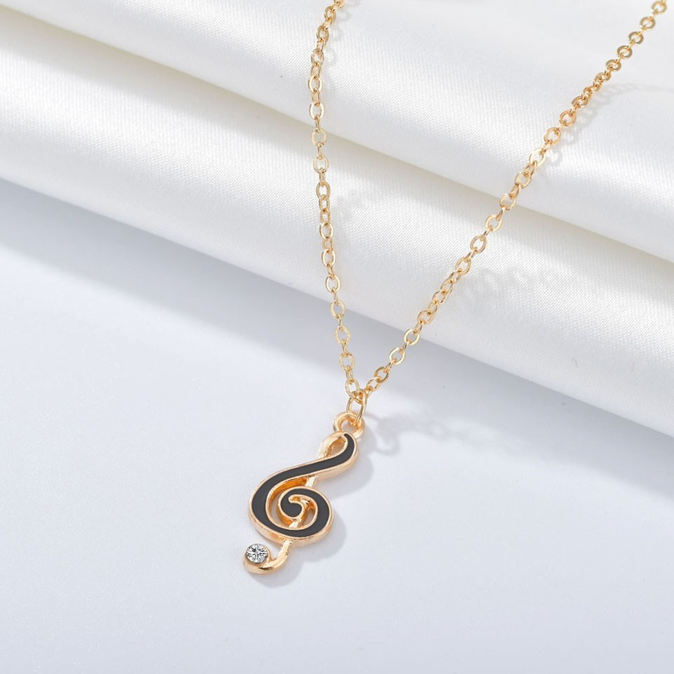New Women Trendy Pendants And Necklace Music Symbol Pendant Necklace Simple Style Handmade Wedding Jewelry Necklace&Pendants image