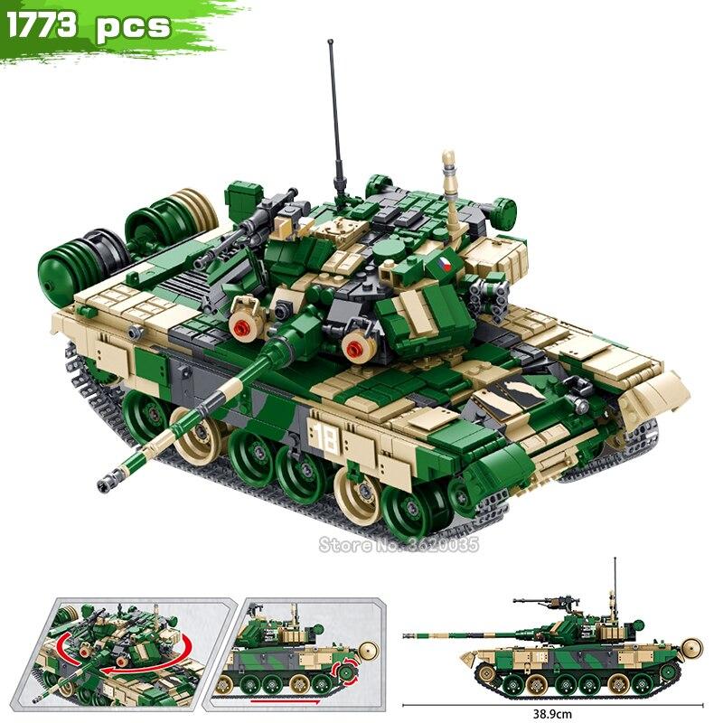 Champ de bataille ww2 russie développement militaire T-90 bataille principale blocs de construction militaire série chiffres compatibles legoinglys