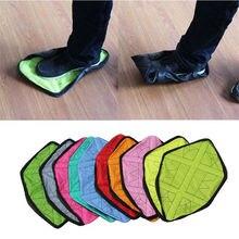 1 пара новая обувь крышку шаг в носке многоразовые бахилы один шаг ручной носок с надписью «Free» Чехлы для обуви прочные Портативный автоматический бахилы