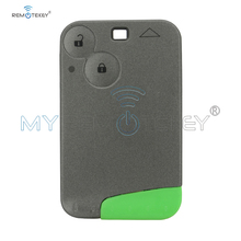 Remtekey Remote Smart key card 2 button 433mhz with emergency key ID46 PCF7947 for Renault Laguna Espace Vel Satis 2001 2009