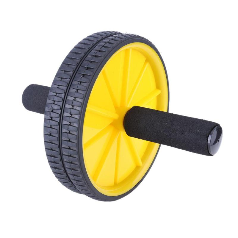 Double-wheeled Updated Ab Abdominal Press Wheel Roller Gym Fitness Equipment Exercise Machine For Body Building Muscle Trainer