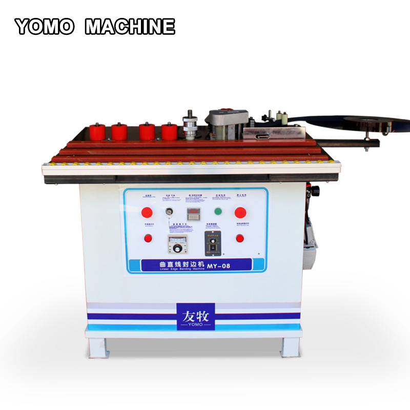 MY-08 wood edge banding machine double sided glue woodworking edge bander straight& curve MY-08 wood edge banding machine double sided glue woodworking edge bander straight& curve